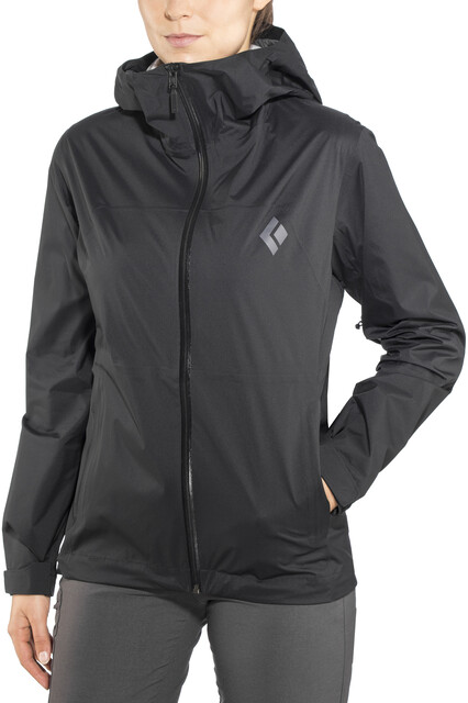 Black Diamond Stormline Stretch Rain Shell Jacket Women black